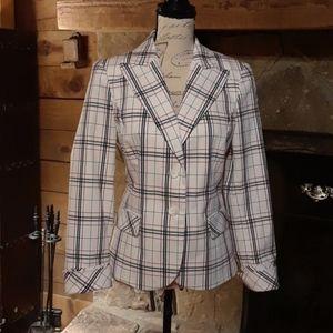 NWT Peace of Cloth plaid blazer